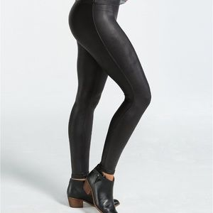ec57147c3be SPANX Pants - SPANX PLUS SIZE READY-TO-WOW FAUX LEATHER LEGGINGS
